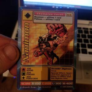 Nanimon digimon card